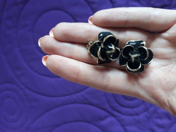 Klipsy kolczyki róże