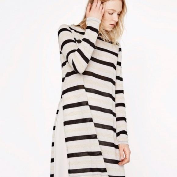 Zara długa asymetryczna tunika w paski