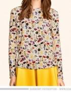 H&M asymetryczna bluzka z tyłu zapinana na guziki multicolor...