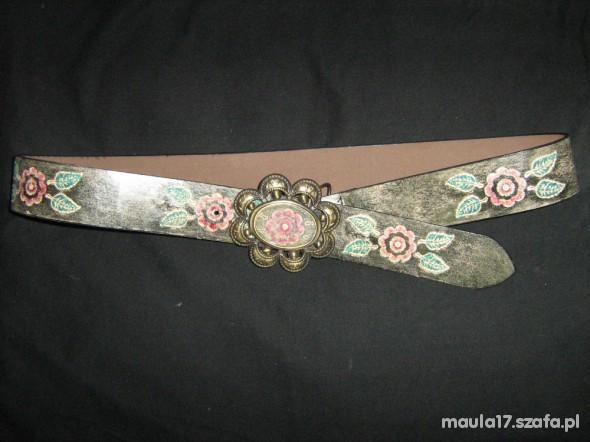 Pasek kwiaty floral vintage
