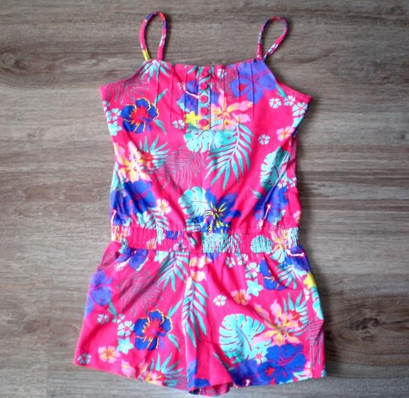 letni różowy kombinezon spodnium dziecięcy