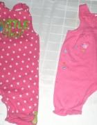 markowy zestaw spodnie ogrodniczki pink...