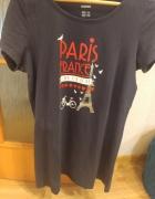 granatowy T shirt rozmiar M Esmara...
