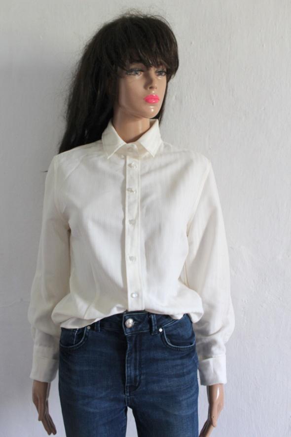 Kremowa koszula prążki r M...
