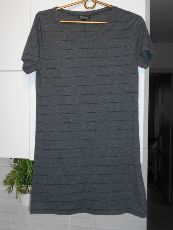 Topshop szara koszulka w paski tshirt grey oversize...