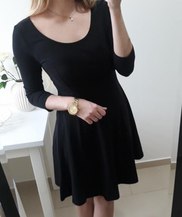 H&M Basic sukienka czarna klasyczna M