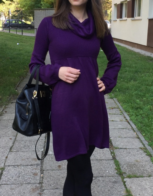 Fioletowa sukienka Stradivarius r 34...