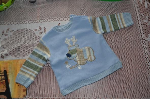 LadyBird Sweterek niebieski reniferek