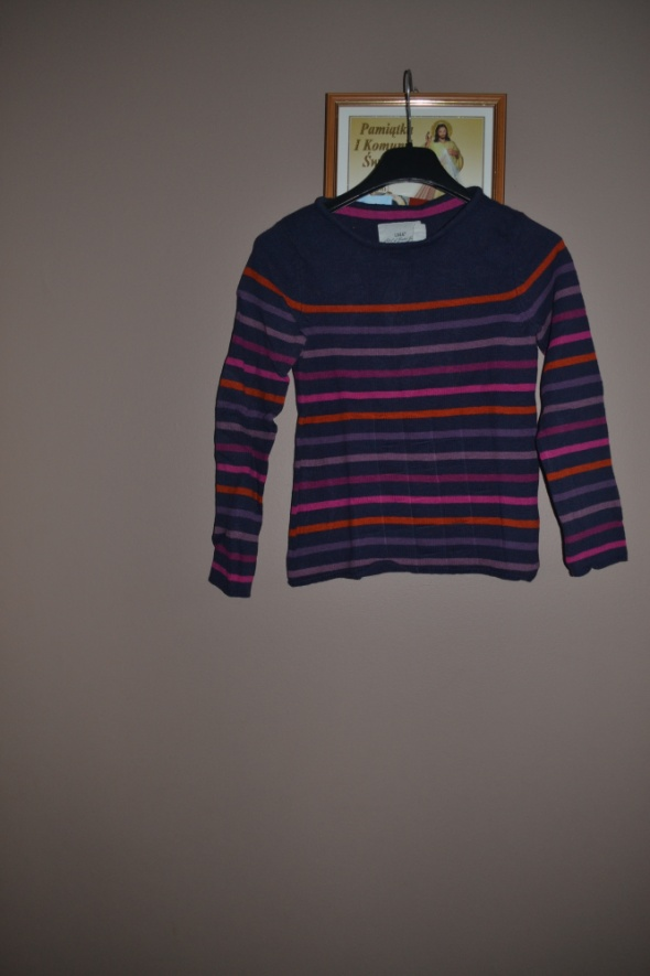 Bluzy Sweterek w paski H&M 128cm 134cm 140cm