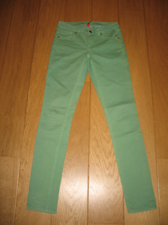 Zielone spodnie H&M 38