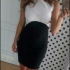 Biało czarna sukienka M