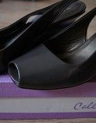 Szare lakierowane buty