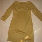 Musztardowa sukienka
