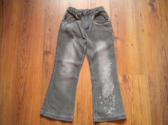 szare spodnie dżinsy rozmiar 116...