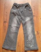 szare spodnie dżinsy rozmiar 116