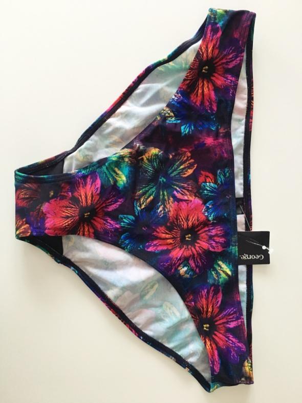 Bikini nowe z metkami dół majtki kwiaty 44
