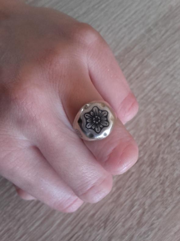 Niello stary rosyjski srebrny pierścionek