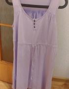 fioletowa tunika na grubych ramiączkach Esmara rozmiar L...
