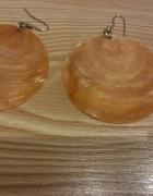 jasnopomarańczowe długie kolczyki koła