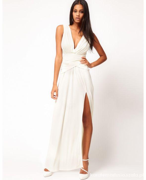 ASOS sukienka wieczorowa grecka maxi 34 XS nowa