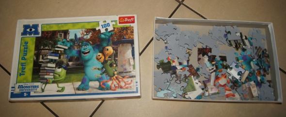 Zabawki Puzzle Potwory i spółka plus figurka gratis