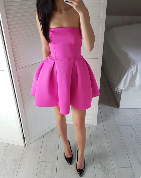 Sukienka rozkloszowana różowa fuksjowa nowa S...