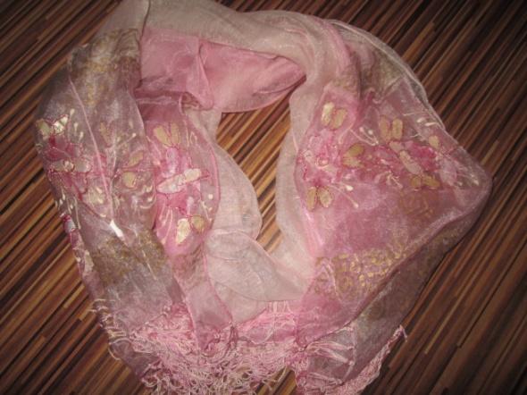 Oryginalny szal perłowy cieniowany malowany