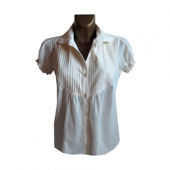 Kremowa Biała Bluzka 42 XL Bawełna