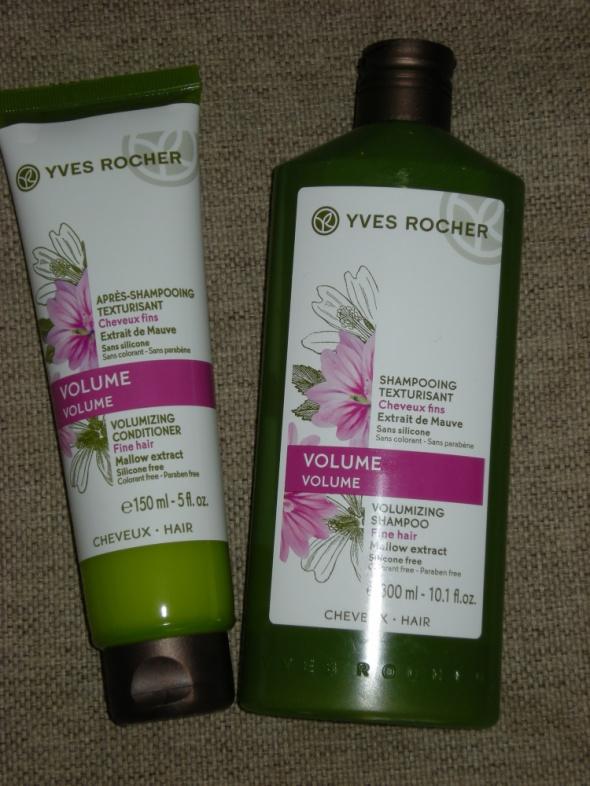zestaw Yves Rocher Szampon i odżywka zwiększająca objętość włosów