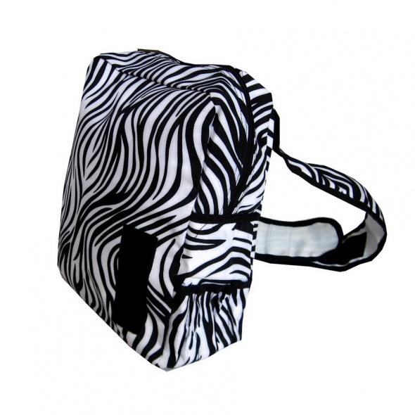 Efektowny Biały Czarny Plecak Zebra mieści A4