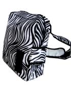Efektowny Biały Czarny Plecak Zebra mieści A4...