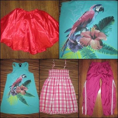 Zestaw ubrań dla dziewczynki 6 8 lat 122 128 cm 4 sztuki