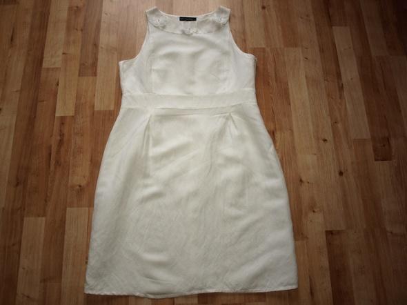 Lniana sukienka 42
