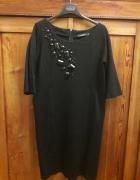 Czarna sukienka monnari 44 elegancka...