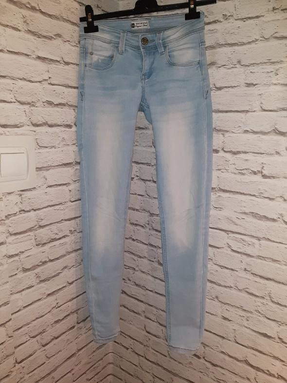 Idealne jasne spodnie rurki xs...