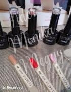 Zestaw startowy do manicure hybrydowego baza top 3 lakiery 10 p...
