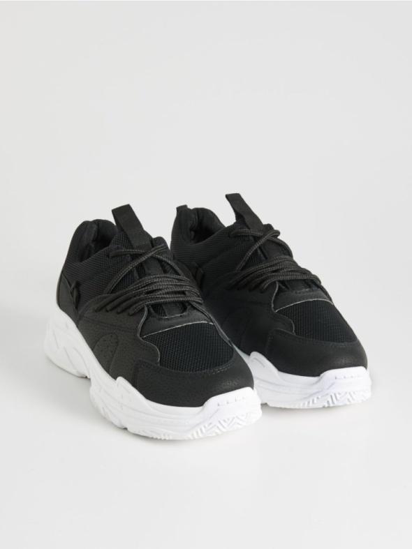 Czarne buty SinSay NOWE w Sportowe Szafa.pl