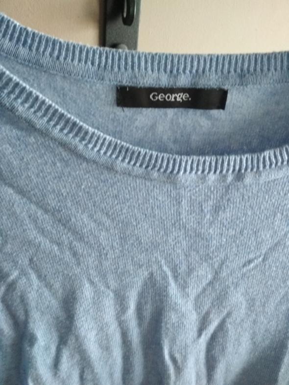 Błękitny sweterek george 38 cienki przez głowę