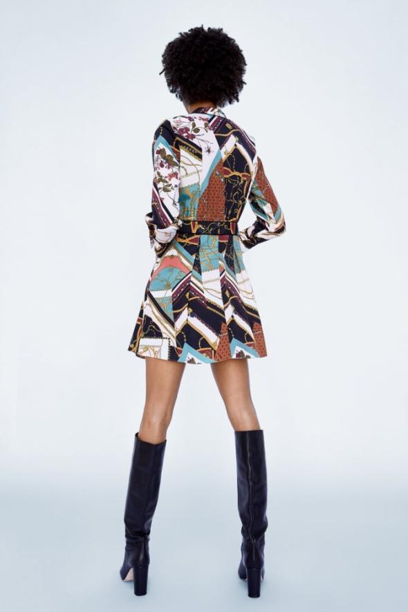 Zara patchworkowa sukienka w łańcuchy nowa metka w Suknie i