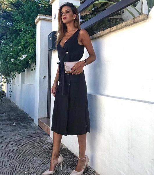 cc2d46cf81 Zara piękna czarna sukienka zapinana na guziki M w Suknie i sukienki ...