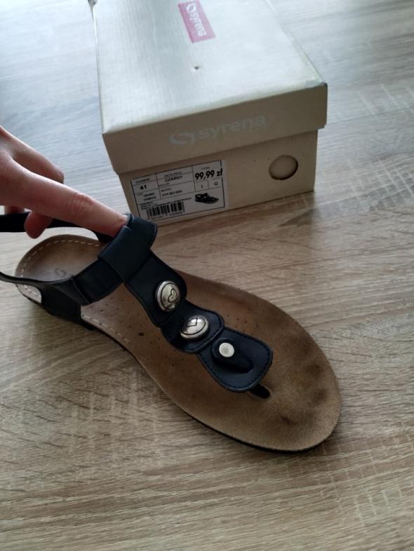 skórzane sandały japonki