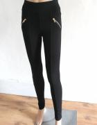 Czarne spodnie legginsy r 34...