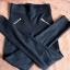 Czarne spodnie legginsy r 34