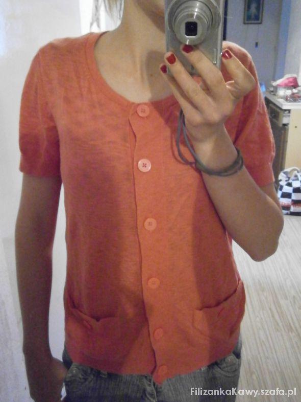 cieniutki pomarańczowy sweterek