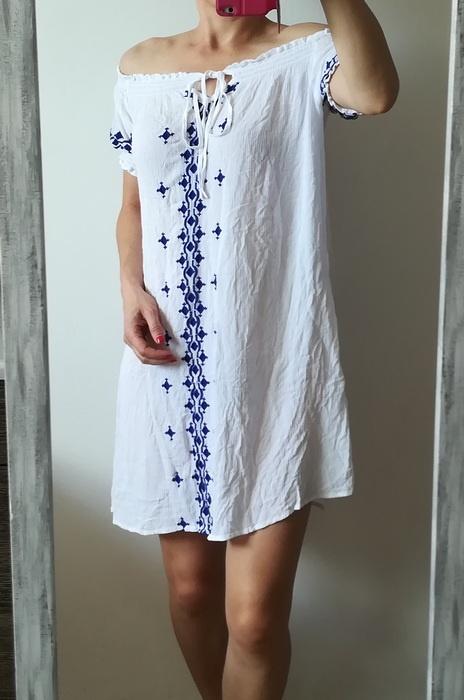 New Look biała sukienka haft L XL...