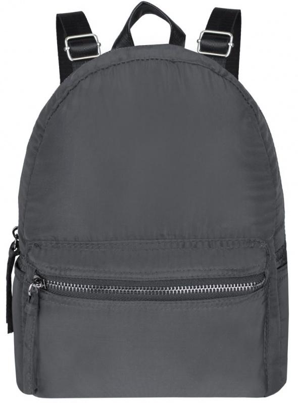 Szary stylowy plecak z materiału