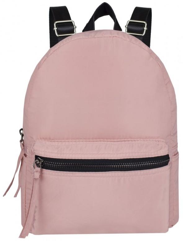 Różowy plecak z materiału szkolny miejski must have