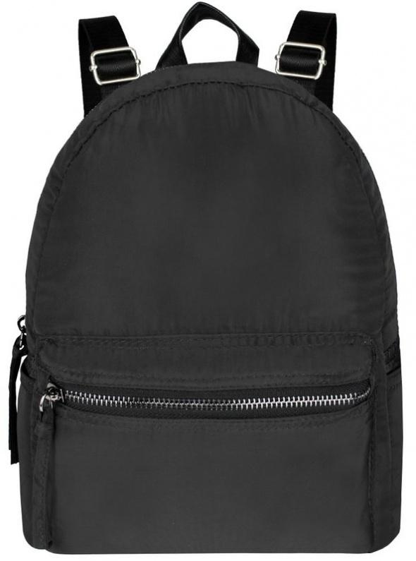 Czarny klasyczny plecak z materiału