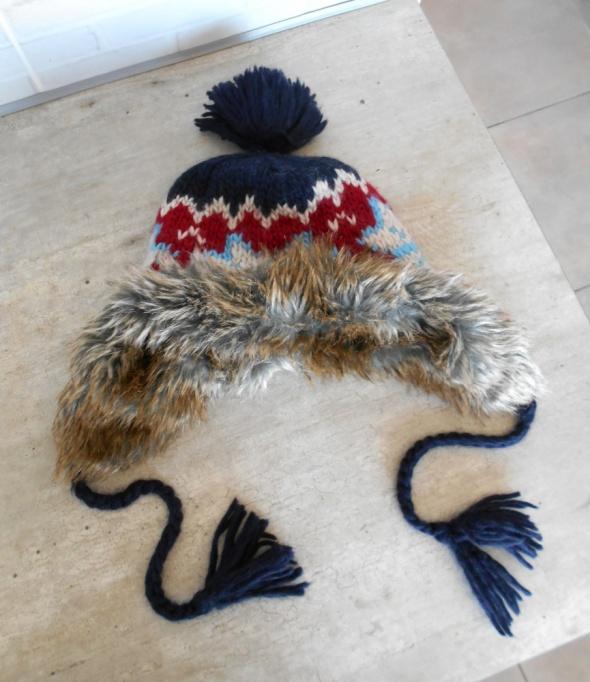 Cubus czapka uszatka zimowa norweskie wzory