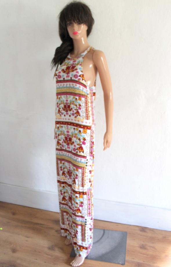 Lejąca sukienka maxi halterneck r L...